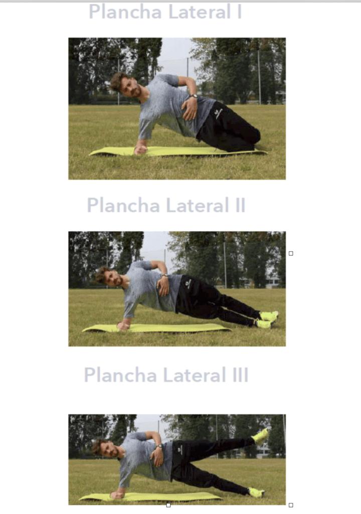 cambios de activación ejercicios core