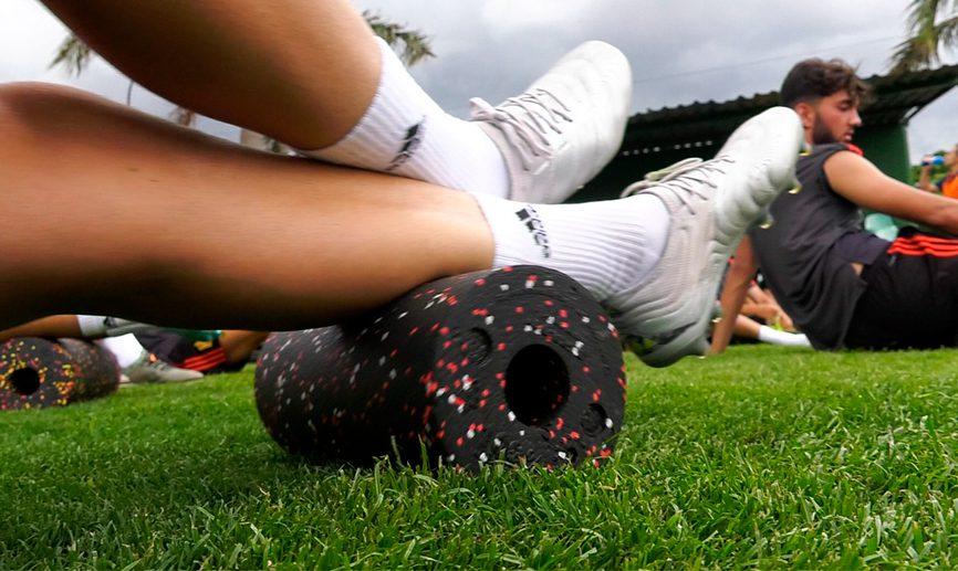 Foam roller en fútbol